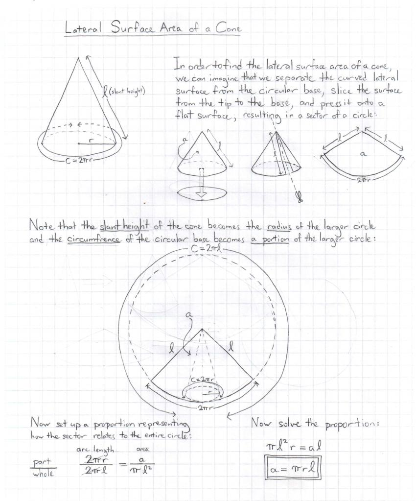 We Need First To Understand The Lateral Area Of A Cone, And Then The Lateral  Area Of The Frustum Of A Cone In Order To Do This