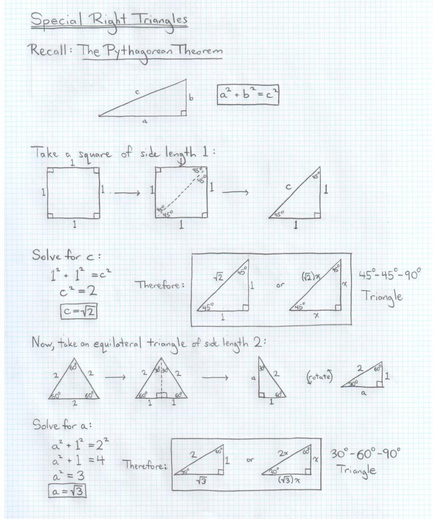 Math Tutor Berkeley San Francisco Bay Area – Special Right Triangles 45 45 90 Worksheet